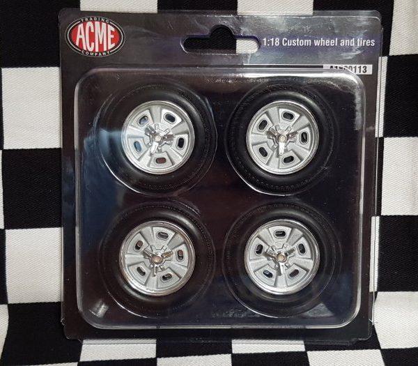 C10 1:18th Custom Indy Style Wheel & Tyre Set