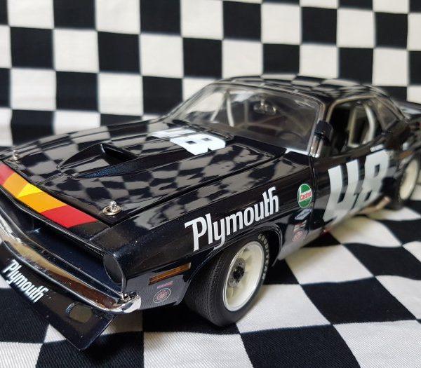 A1806101 – 1970 Dan Gurney #48 1:18th  Plymouth Trans Am Cuda