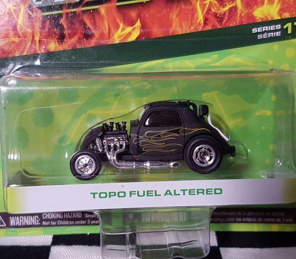 GL96170E – Black Topolino Fuel Altered 1:64th with Flames