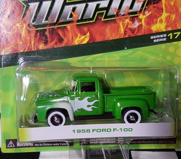 GL96170B – 1956 Green 1:64th Ford F-100 with Flames