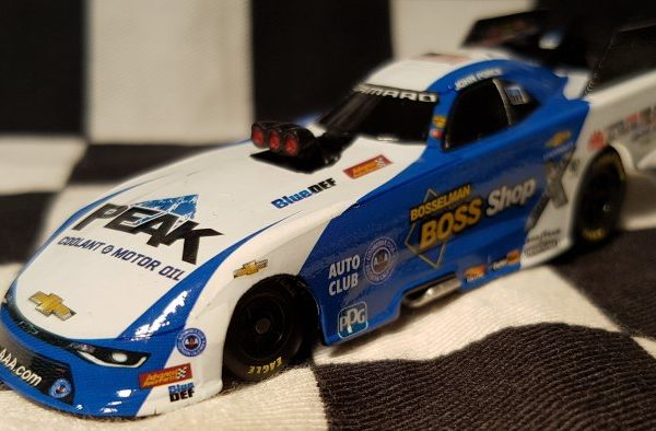 AJF1865B7JF – 2018 John Force Bosselman BOSS Shop 1:64th Chevrolet Camaro NHRA Funny Car