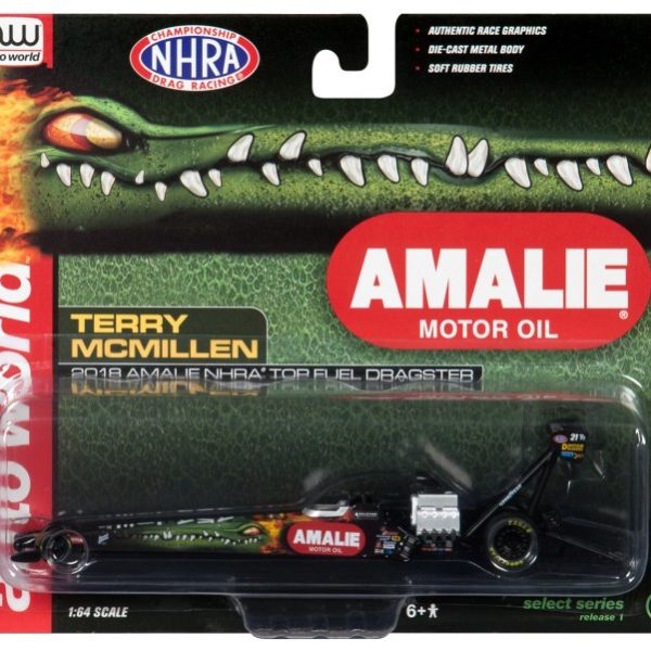 AWSP019 – 2018 Terry McMillen 1:64th Amalie Oil Top Fuel Dragster