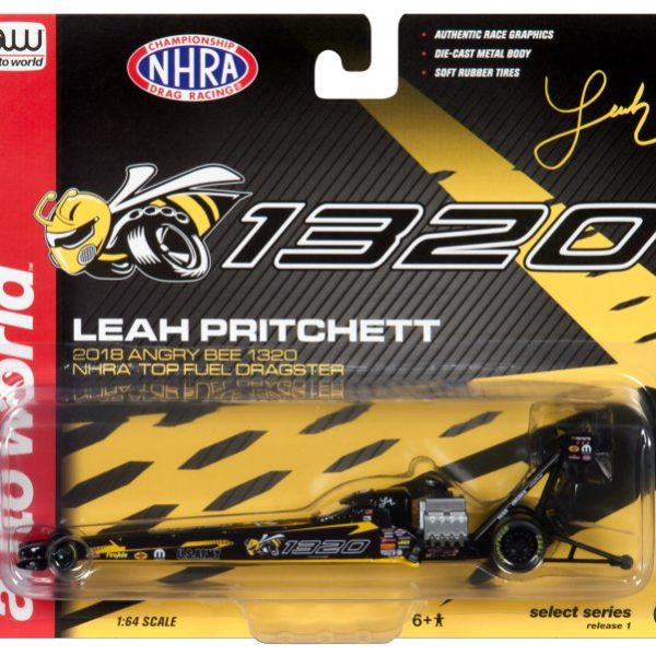 AWSP021 – 2018 Leah Pritchett 1:64th Angry Bee 1320 Top Fuel Dragster