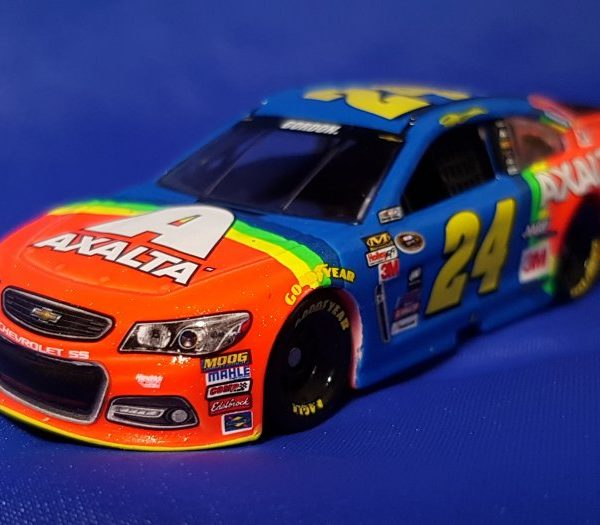 "C245865DUJG – 2015 Jeff Gordon #24 Axalta Retro Rainbow 1:64th ""Gen6"" Chevrolet SS"