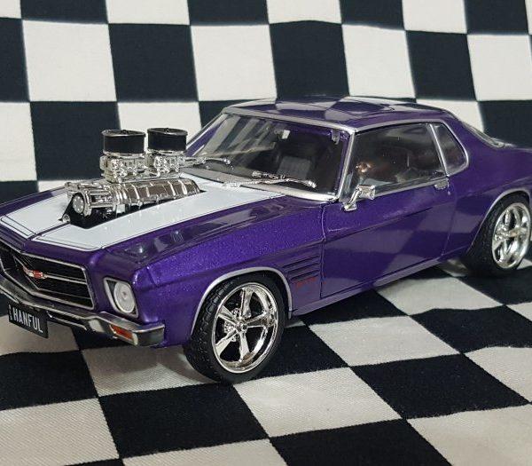 DDA201 – 1973 Hanful 1:24th Custom Purple Holden HQ GTS Monaro