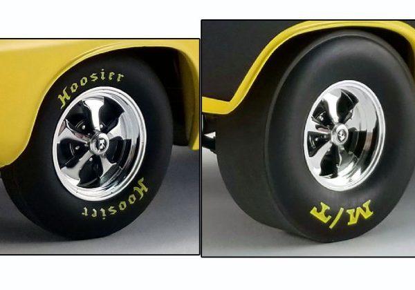A1806118W – 1:18th Drag Wheel & Tyre Set