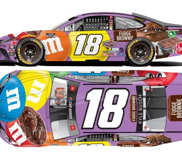 C182023MXKB – 2020 Kyle Busch M&M's Fudge Brownie 1:24th Toyota Camry NASCAR