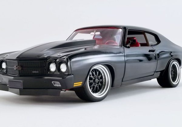 A1805517 – 1970 Chevrolet Chevelle SS 1:18th Black G Force Street Fighter